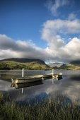 Immagine di paesaggio di Barche a remi su Llyn Nantlle in Snowdonia alle