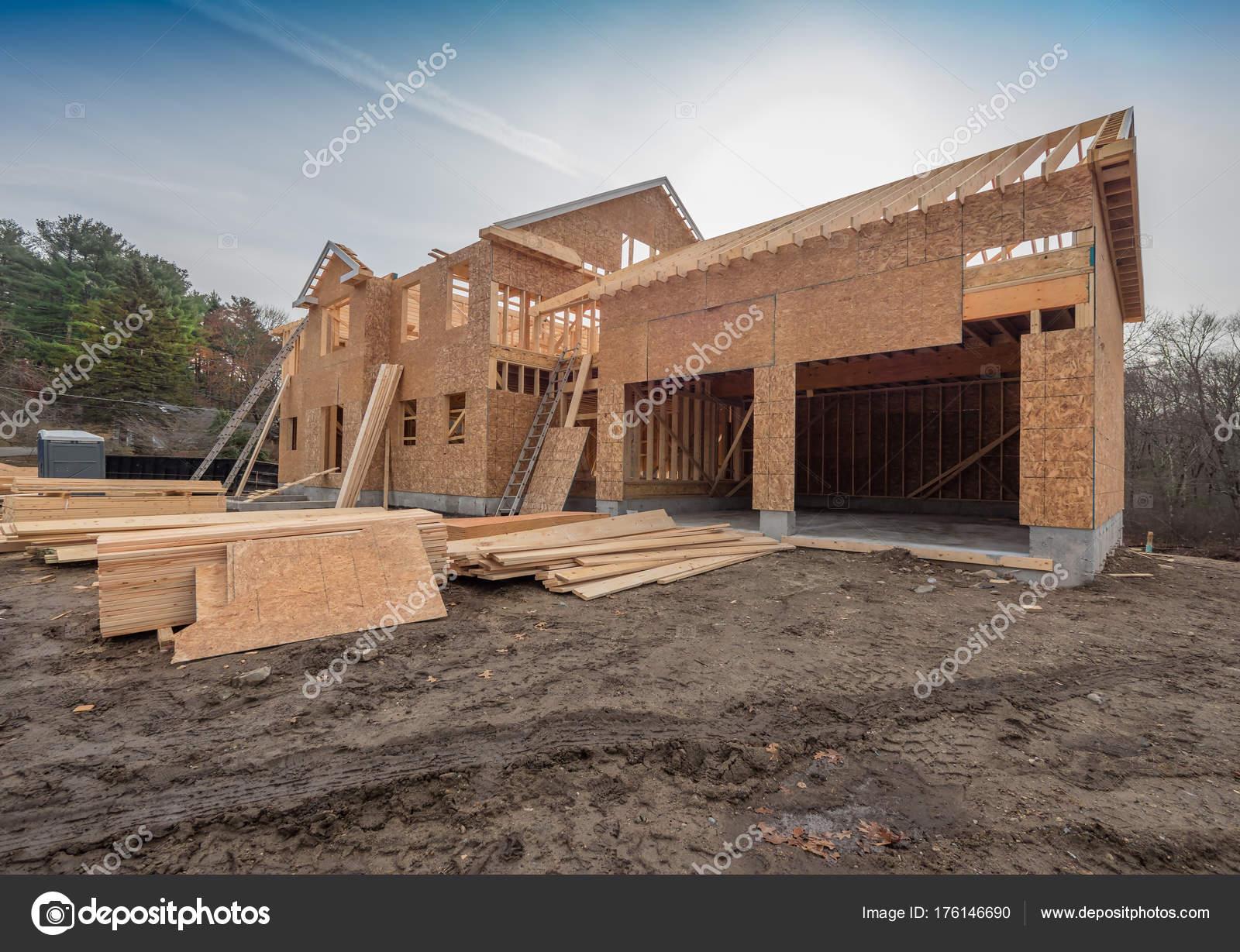 Neue Haus Bau Gestaltung Die Vororte Der Stadt — Stockfoto © Sonar ...