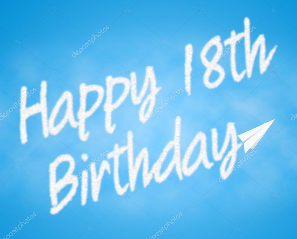 18 Geburtstag Bedeutet 18 Feiern Und Gratulieren Stockfoto