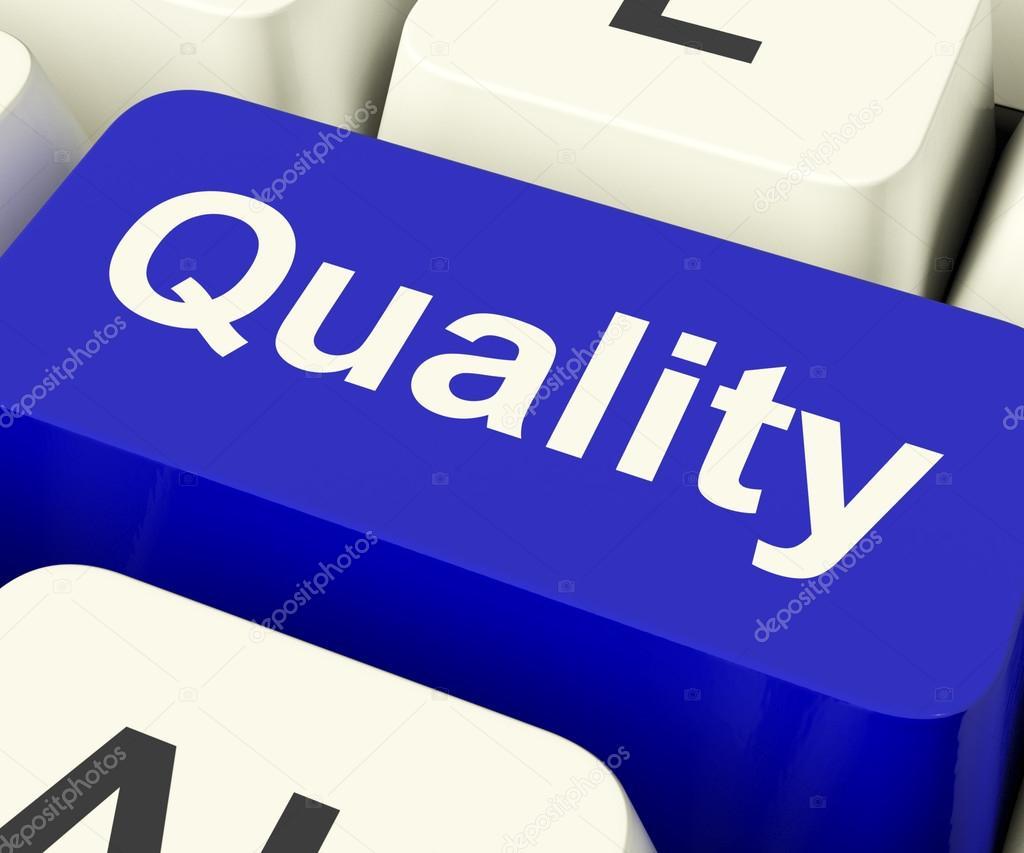 Kvalitní klíč představuje vynikající služby nebo produkty — Fotografie od  ... 641f53fc687