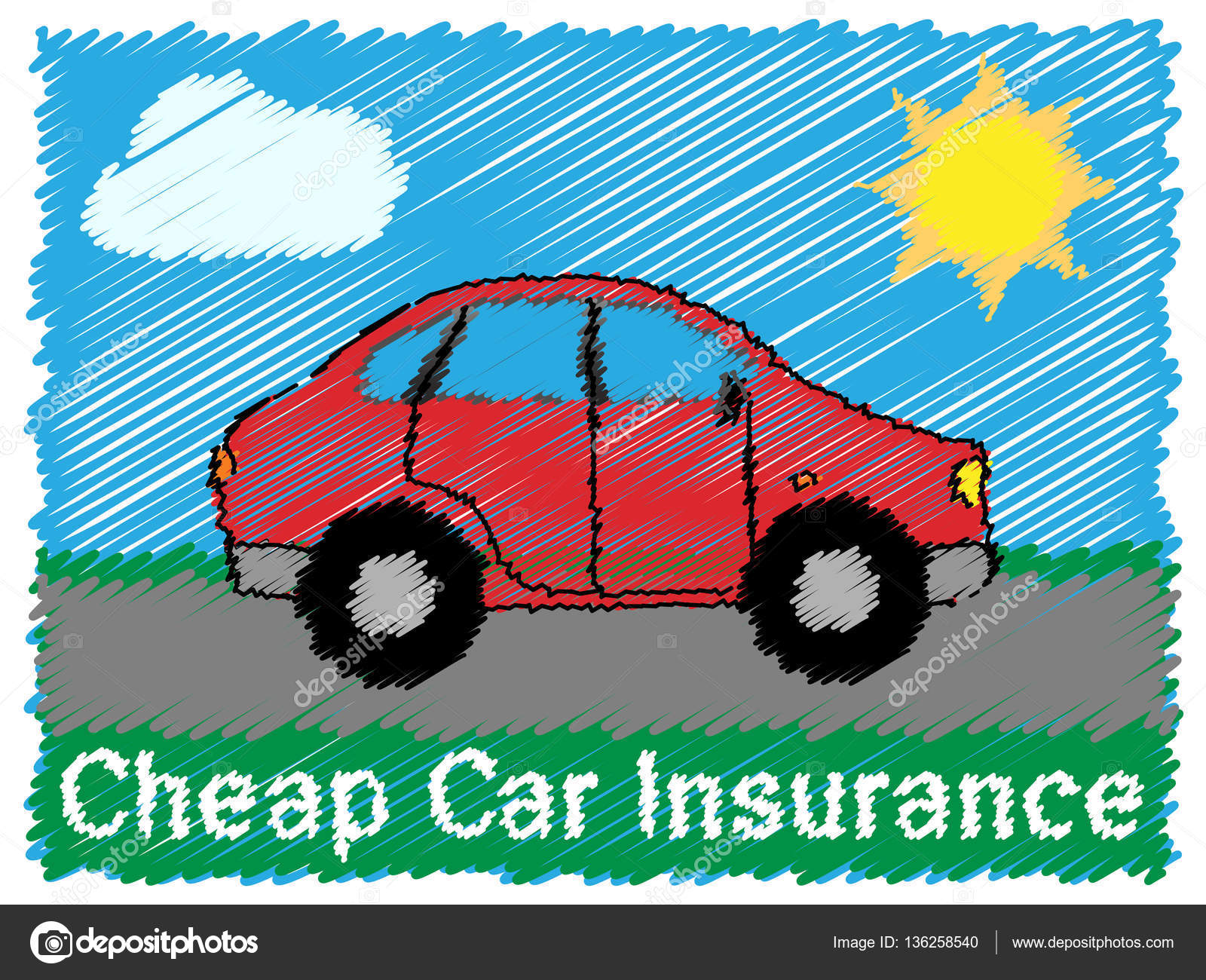Auto Insurance Cheap >> Cheap Car Insurance Means Auto Policy 3d Illustration