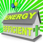 Energeticky efektivní dům představuje domácí 3d vykreslování