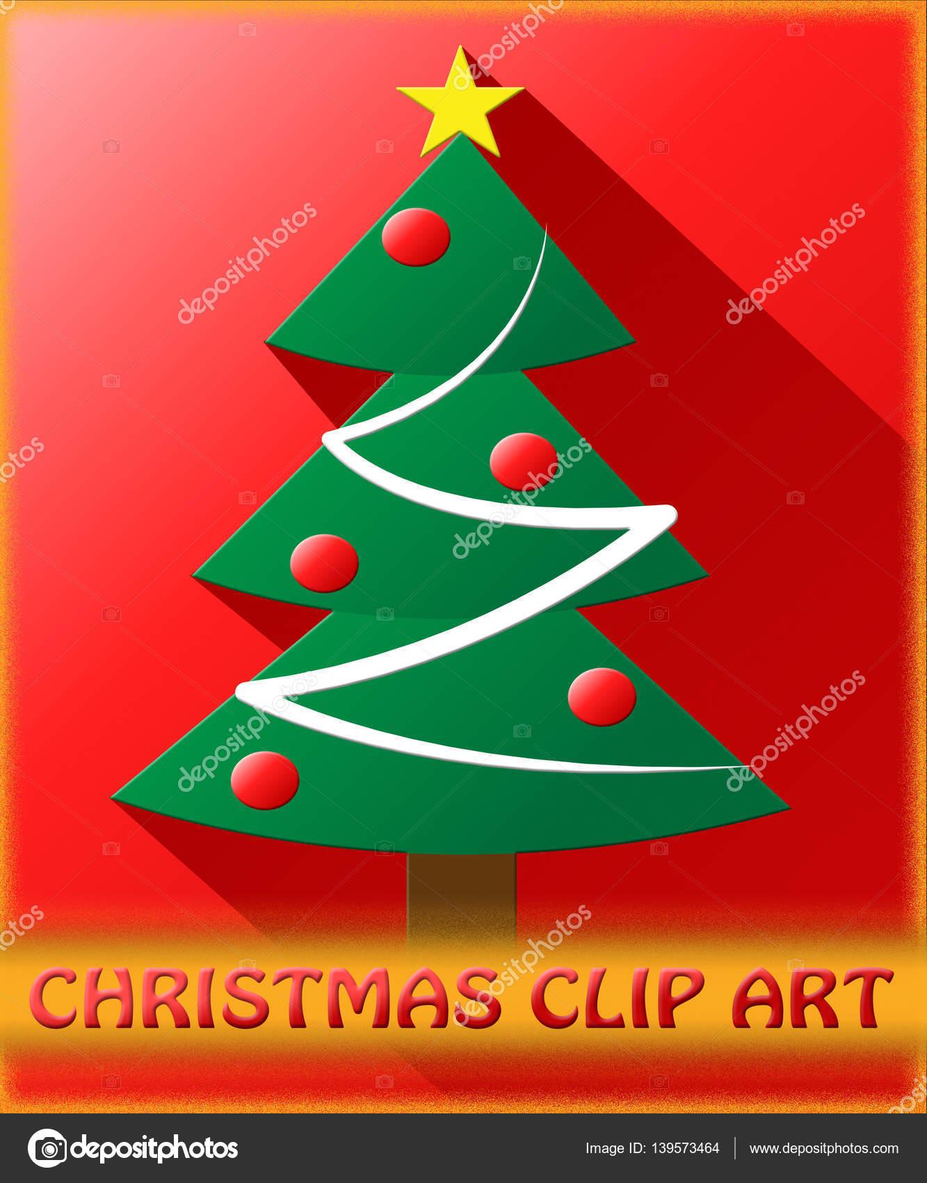 Weihnachten ClipArt Clipart 3d Illustration Bedeutung — Stockfoto ...