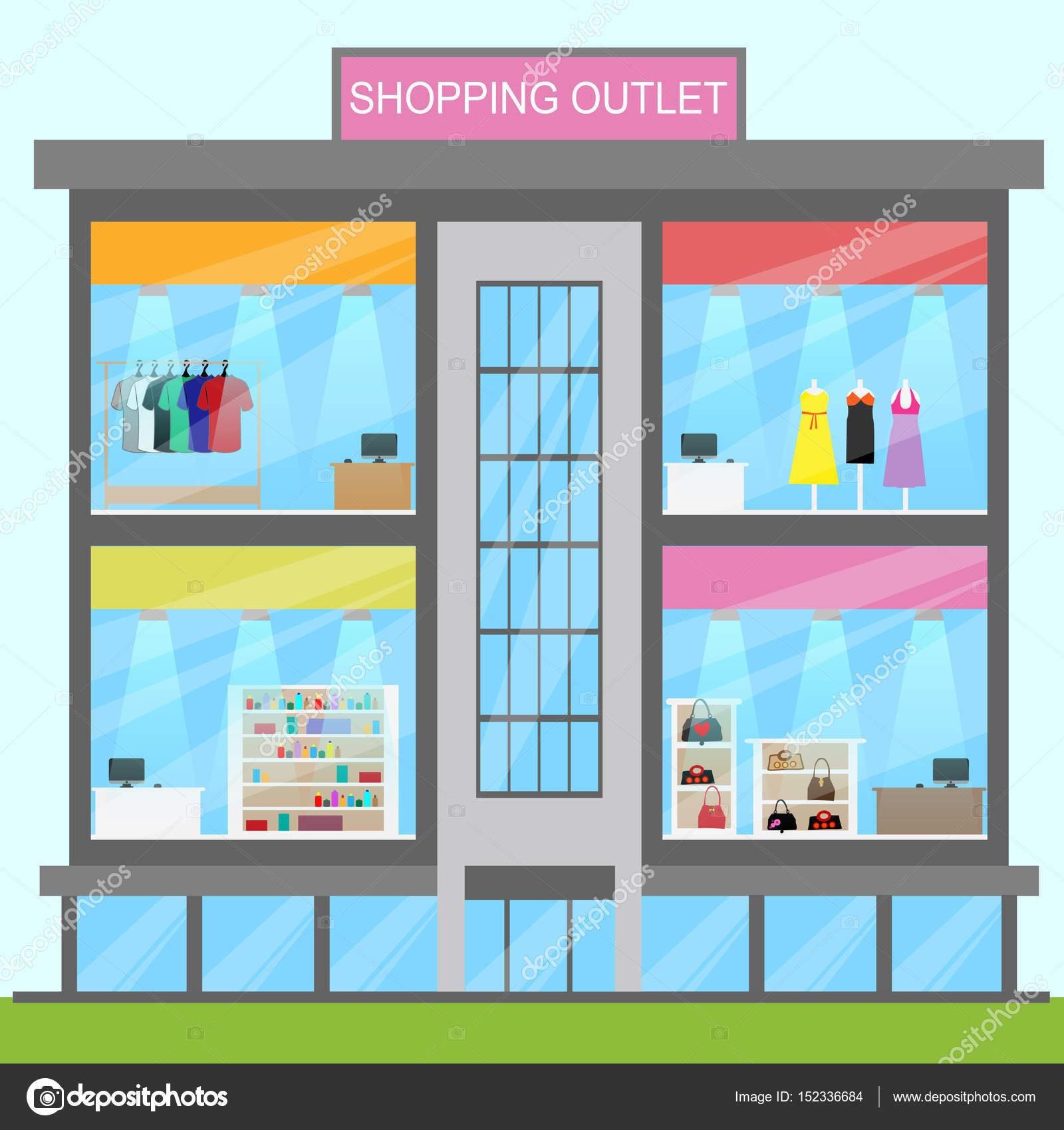Shopping Outlet Means Retail Commerce 3d Illustration