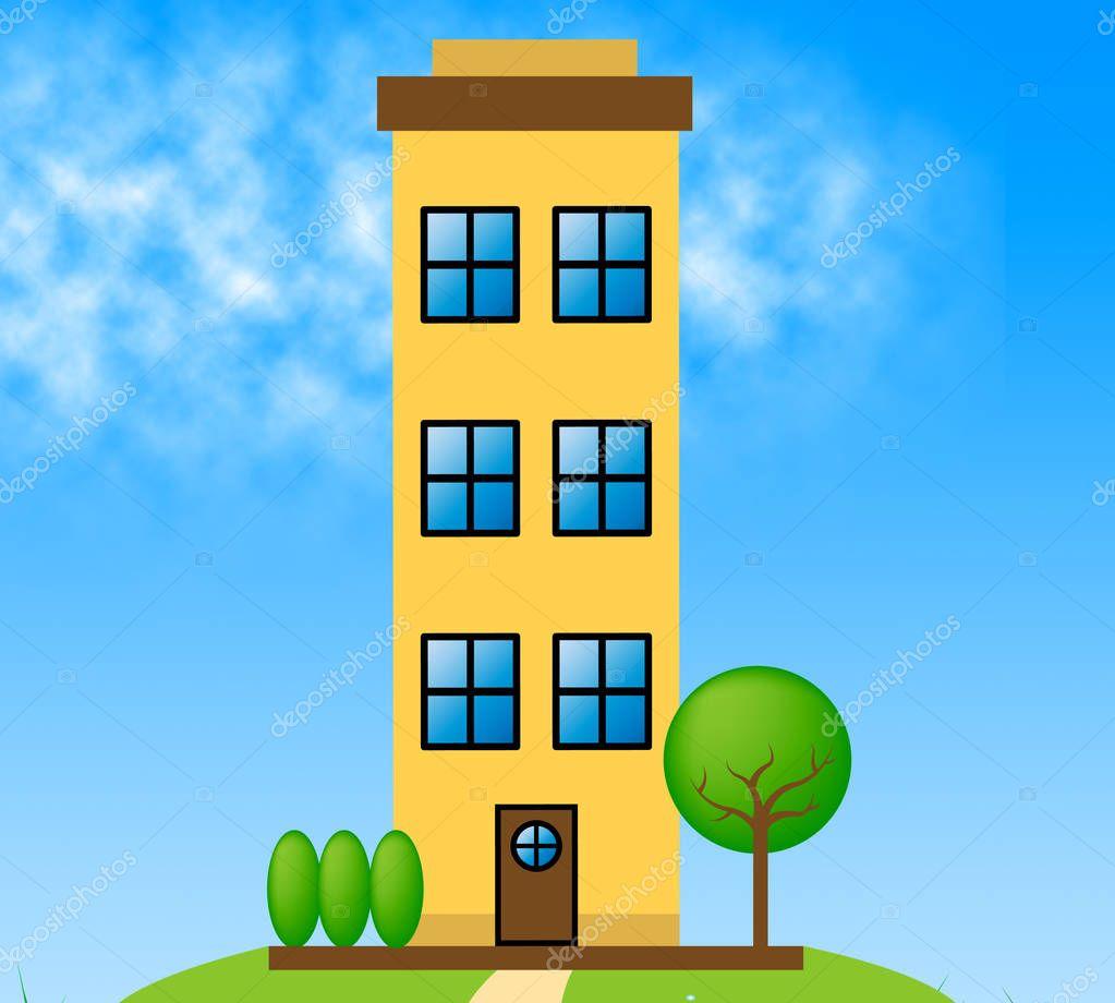 Apartment Meaning: Bloque De Apartamentos Significado