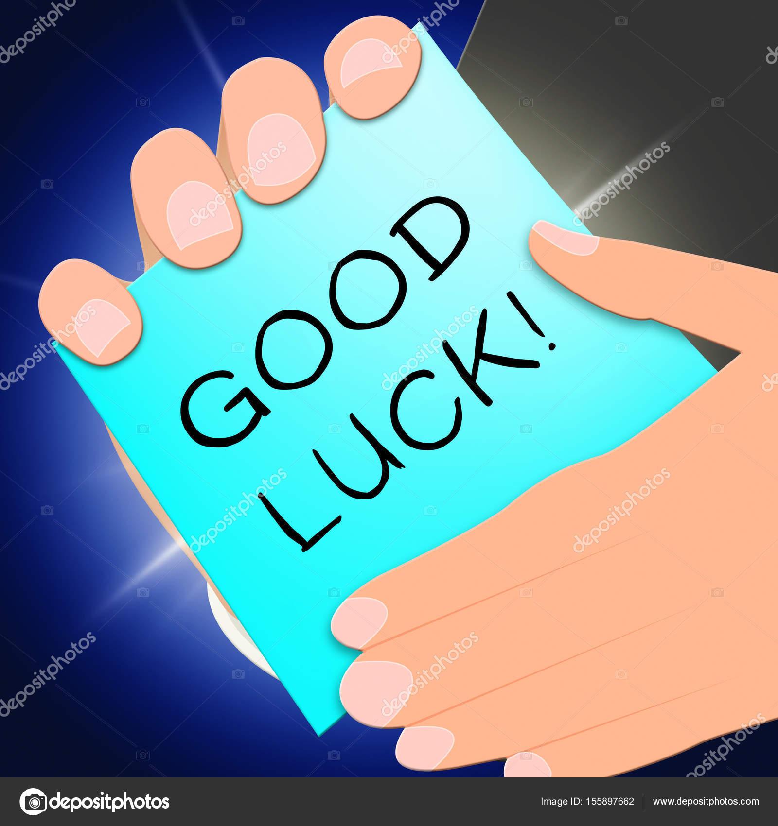 Message De Bonne Chance Montre Fortune 3d Illustration
