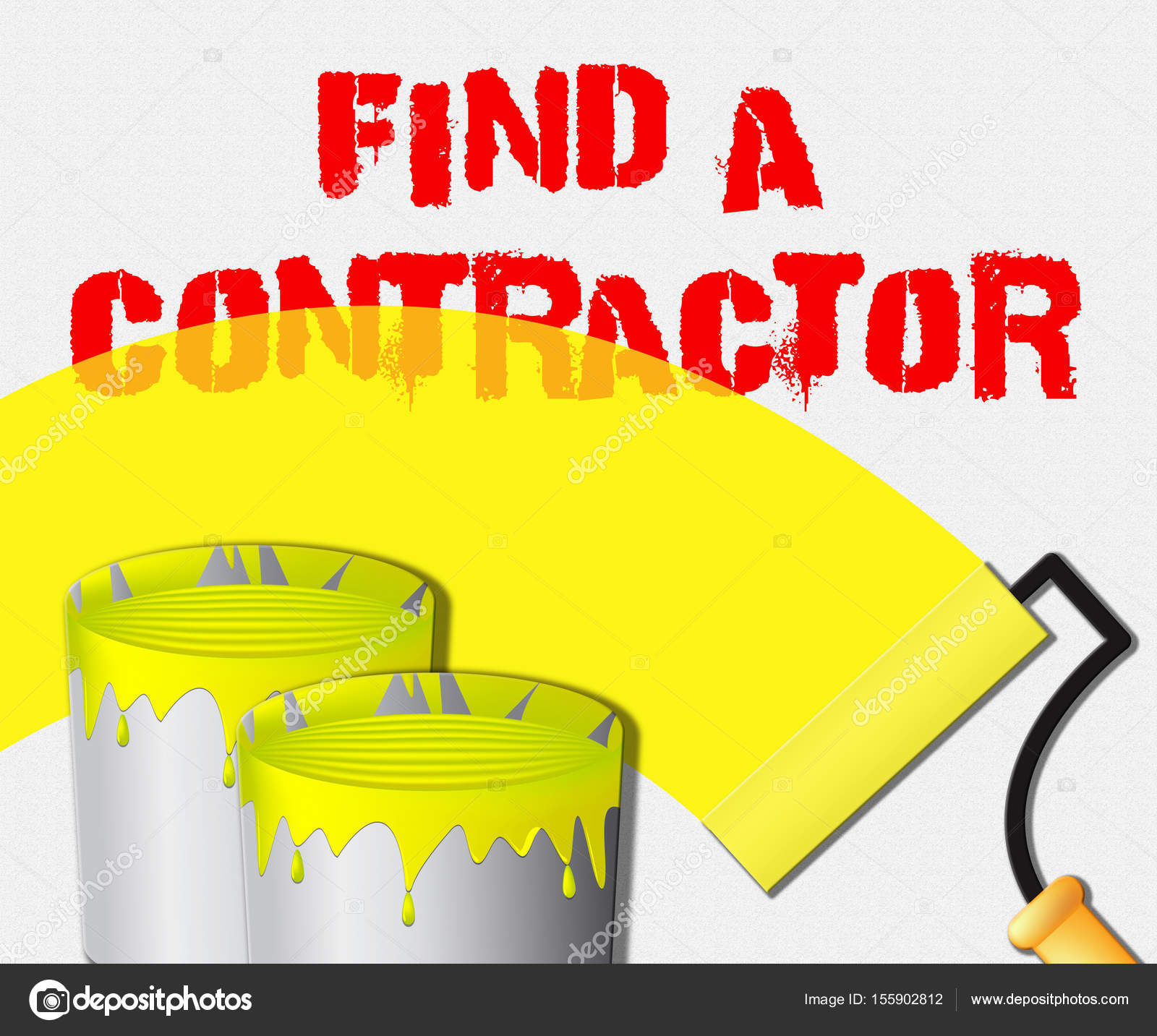 Find A Contractor >> Find A Contractor Displays Finding Builder 3d Illustration