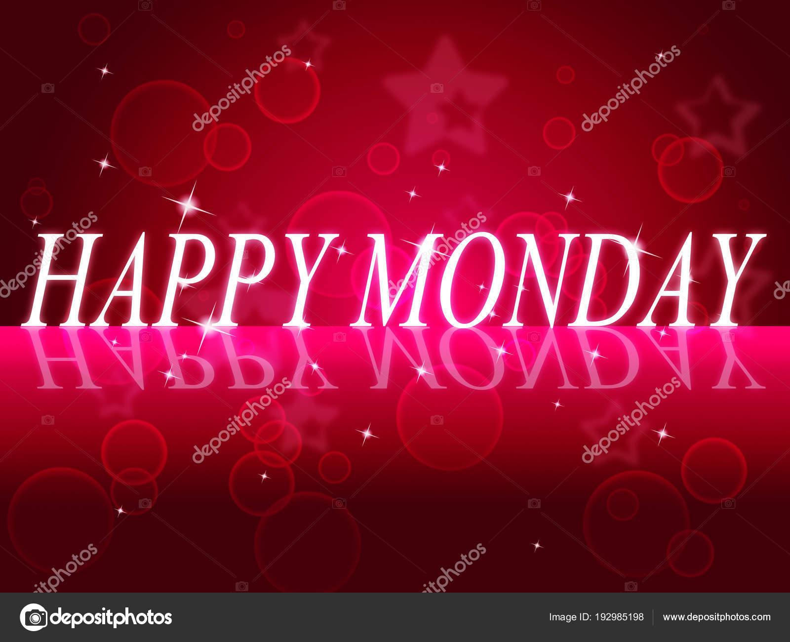 Happy Monday Quotes Motivation Saying 3d Illustration Stock