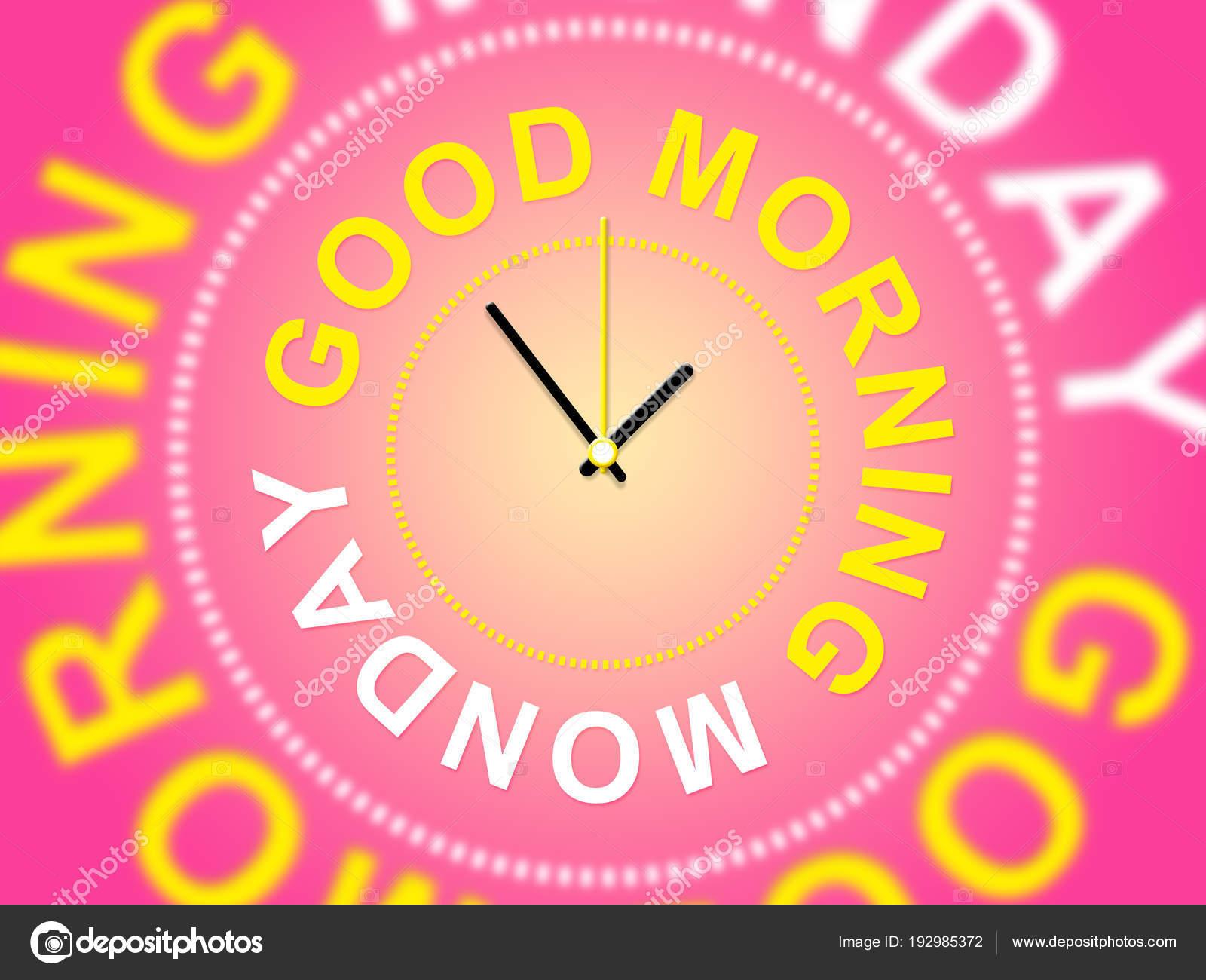 Bom Dia Segunda Feira Motivacional Cita Ilustração 3d
