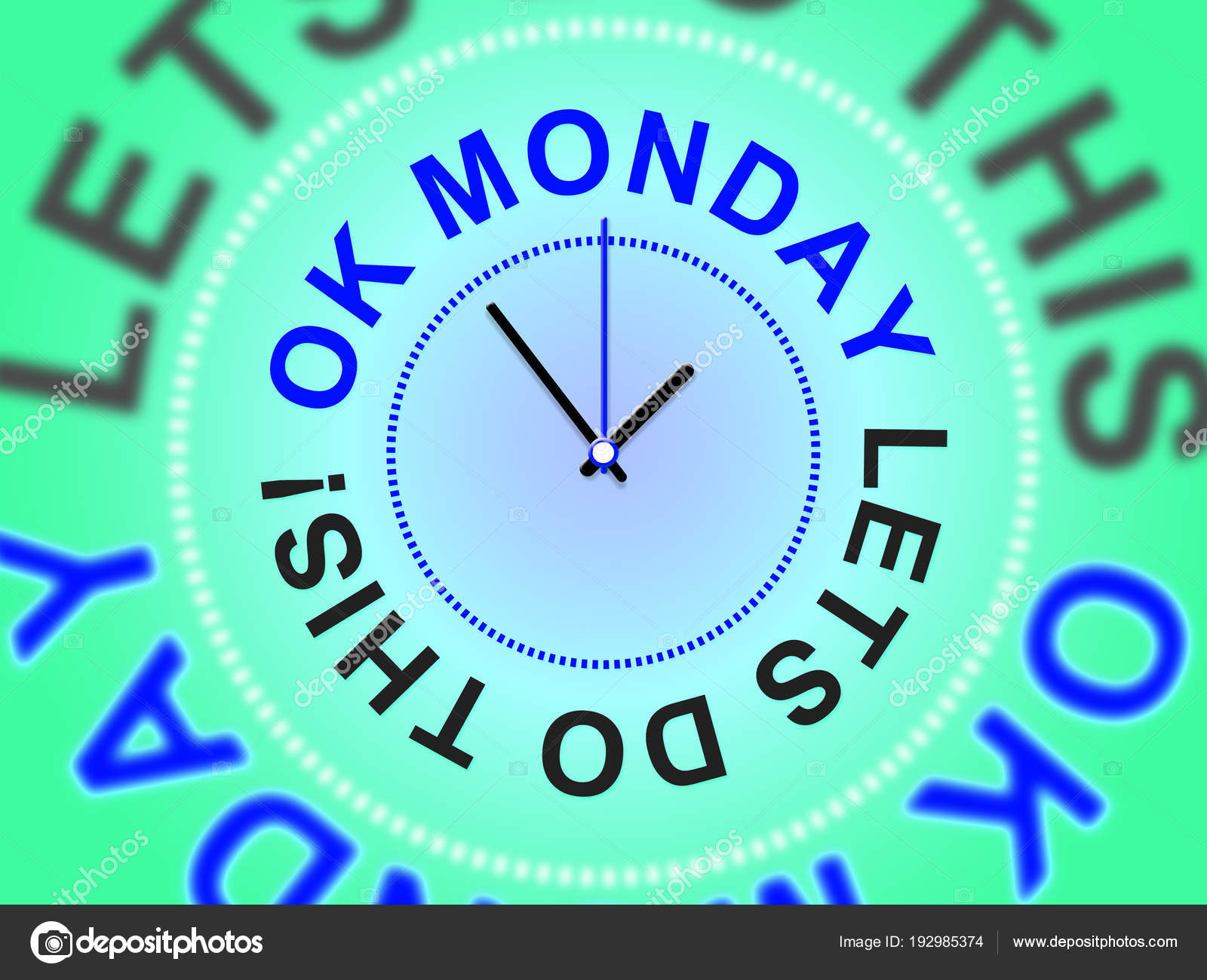 Monday Morning Quotes Laten We Deze 3d Illustratie Stockfoto