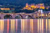 Pohled do zámku, Heidelberg, Německo