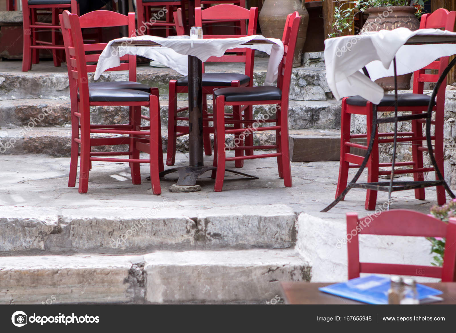 Charming street cafe in the old district of plaka in athens greece photo by