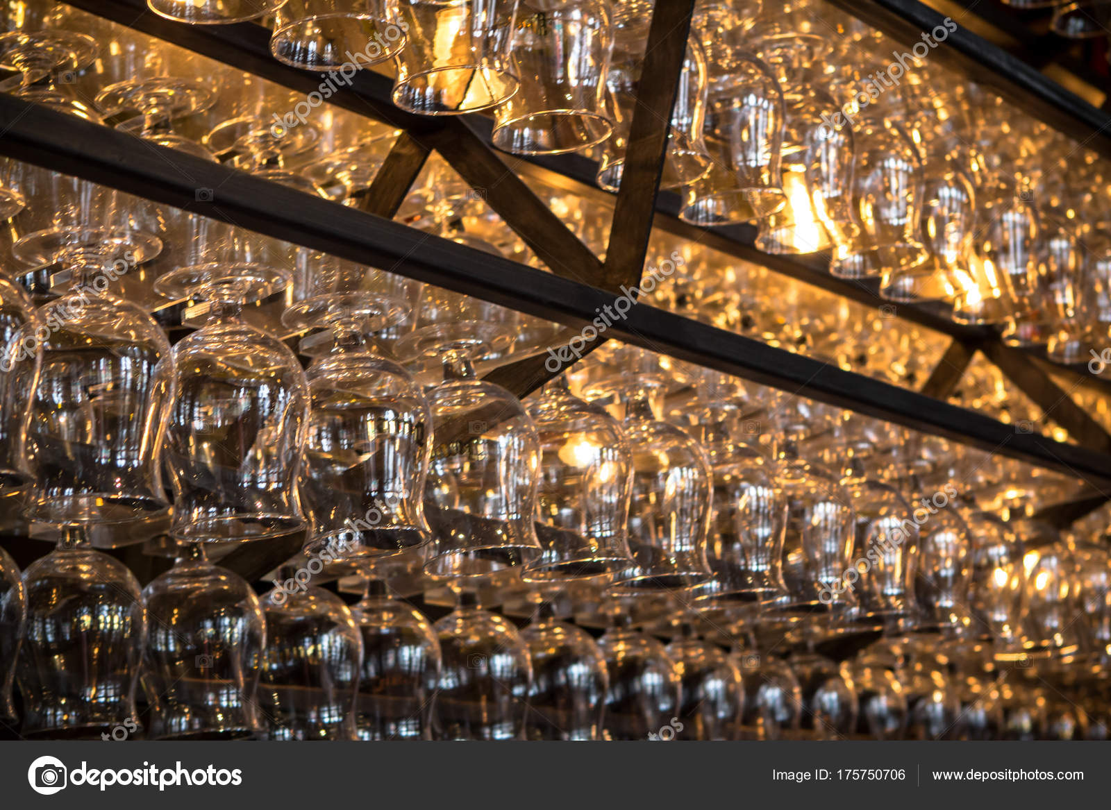 Glass Dekoration in a bar — Stock Photo © CAHKT #175750706