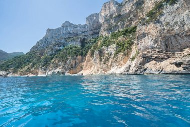 East Coast of Sardinia near Cala Goloritze beach at Gulf of Orosei, Italy