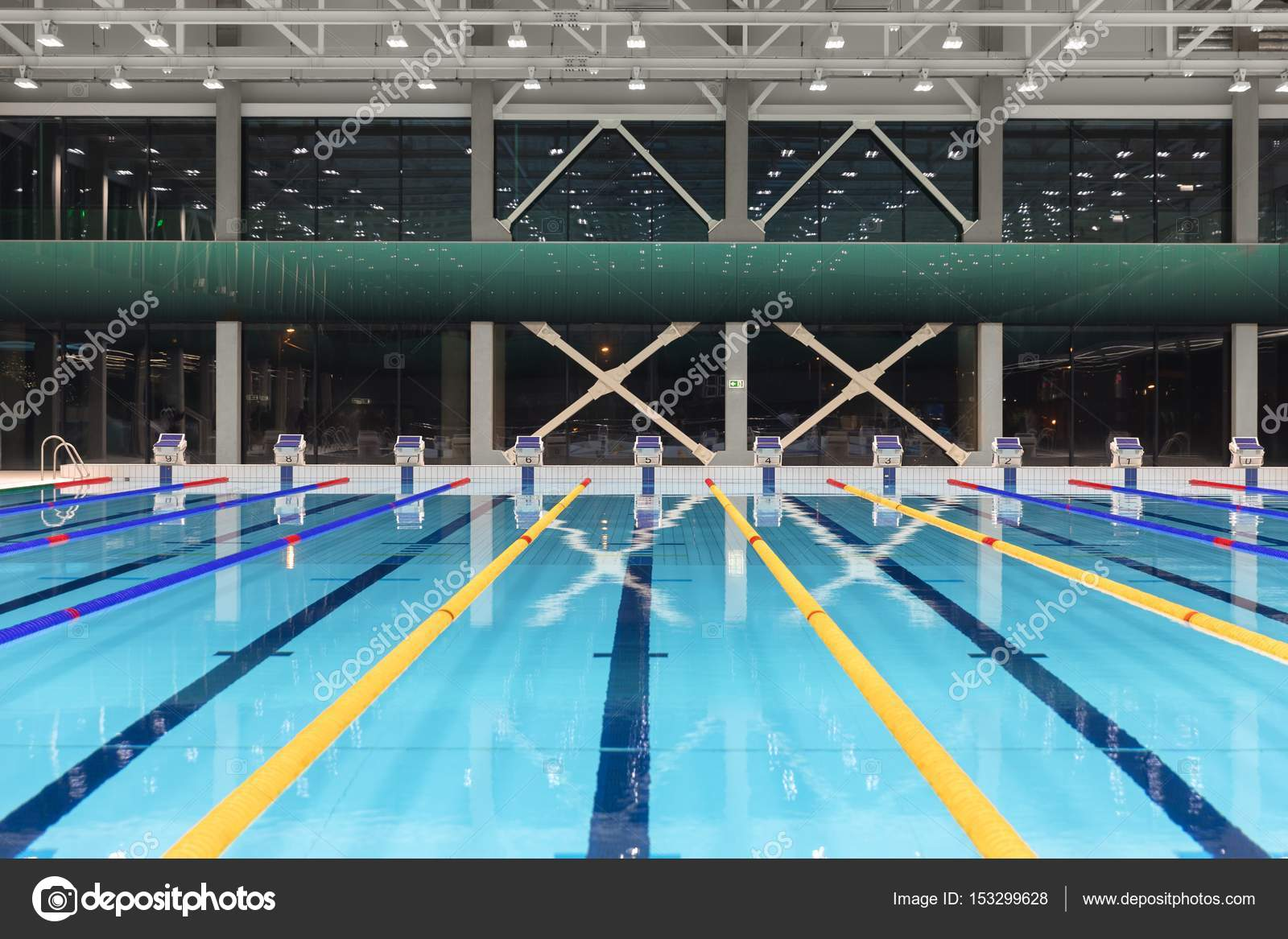 Sport swimming pool inside building — Stock Photo © svedoliver ...