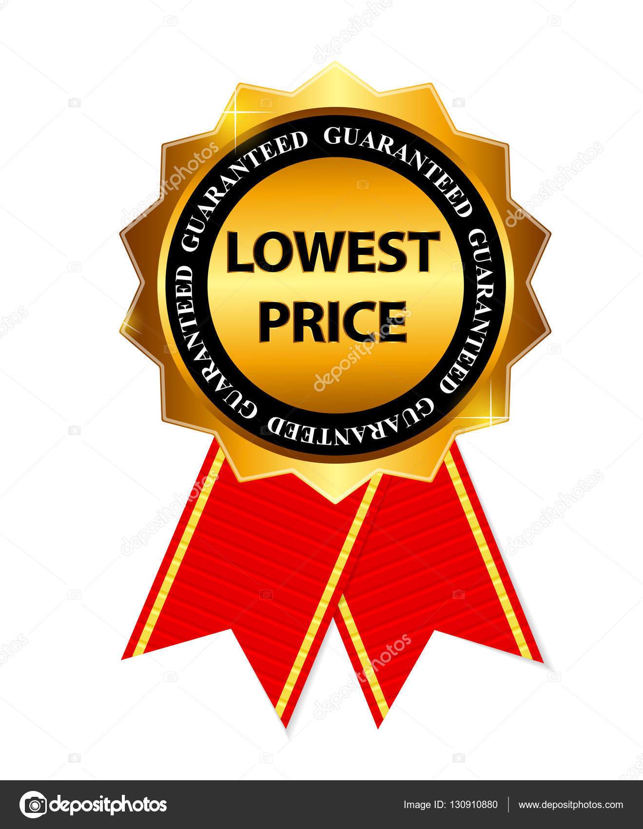 precio bajo garantía signo etiqueta oro ilustración plantilla vector ...
