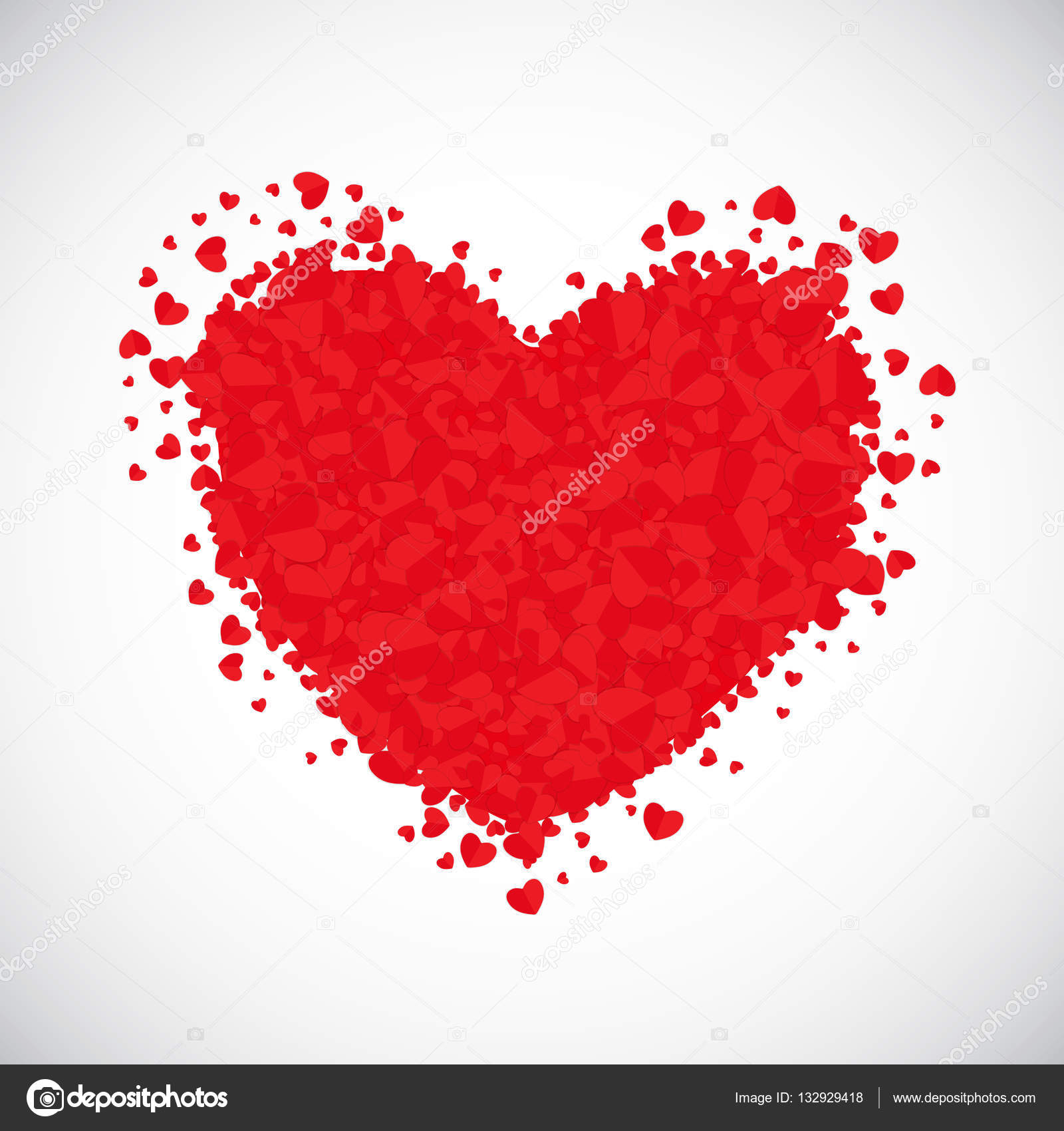 Valentines Day Hartsymbool Liefde En Gevoelens Achtergrond Desig