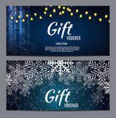 Vánoční a novoroční dárkové poukazy, slevy kupónu šablona Ve