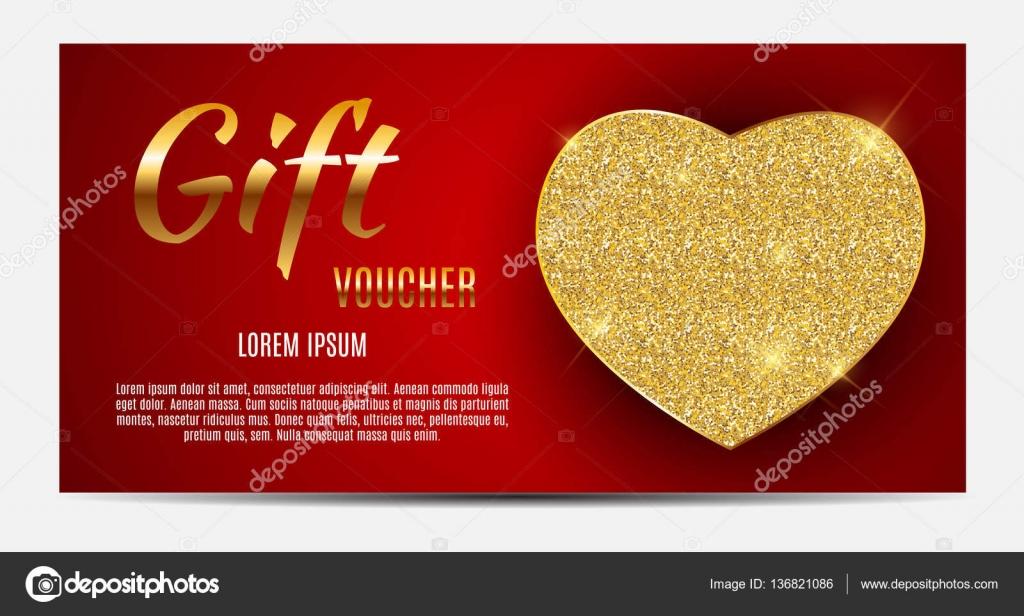 Geschenk-Gutschein-Vorlage für Ihr Unternehmen. Valentine s Day ...