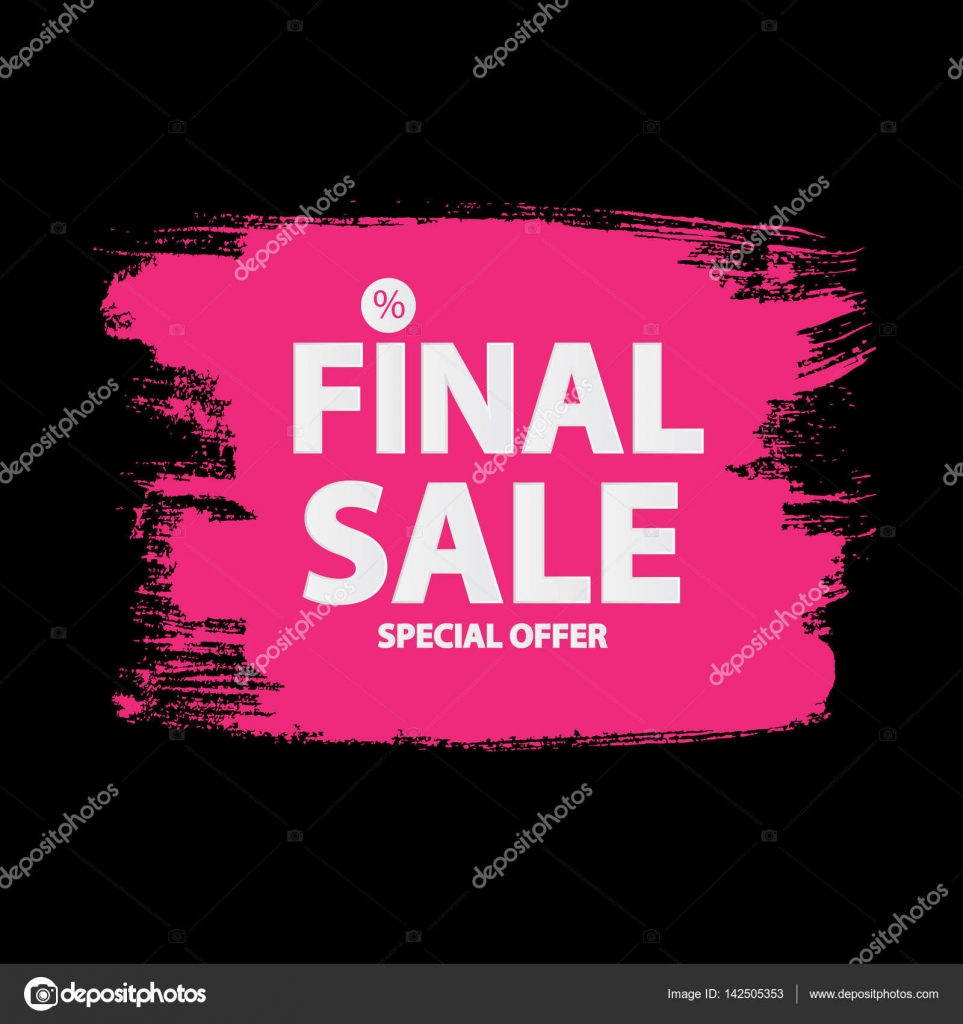 abstract brush stroke designs final sale banner in black pink a