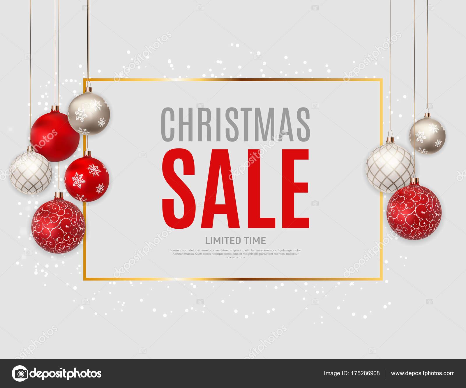 Weihnachten und Silvester Verkauf Hintergrund, Rabatt Gutschein ...