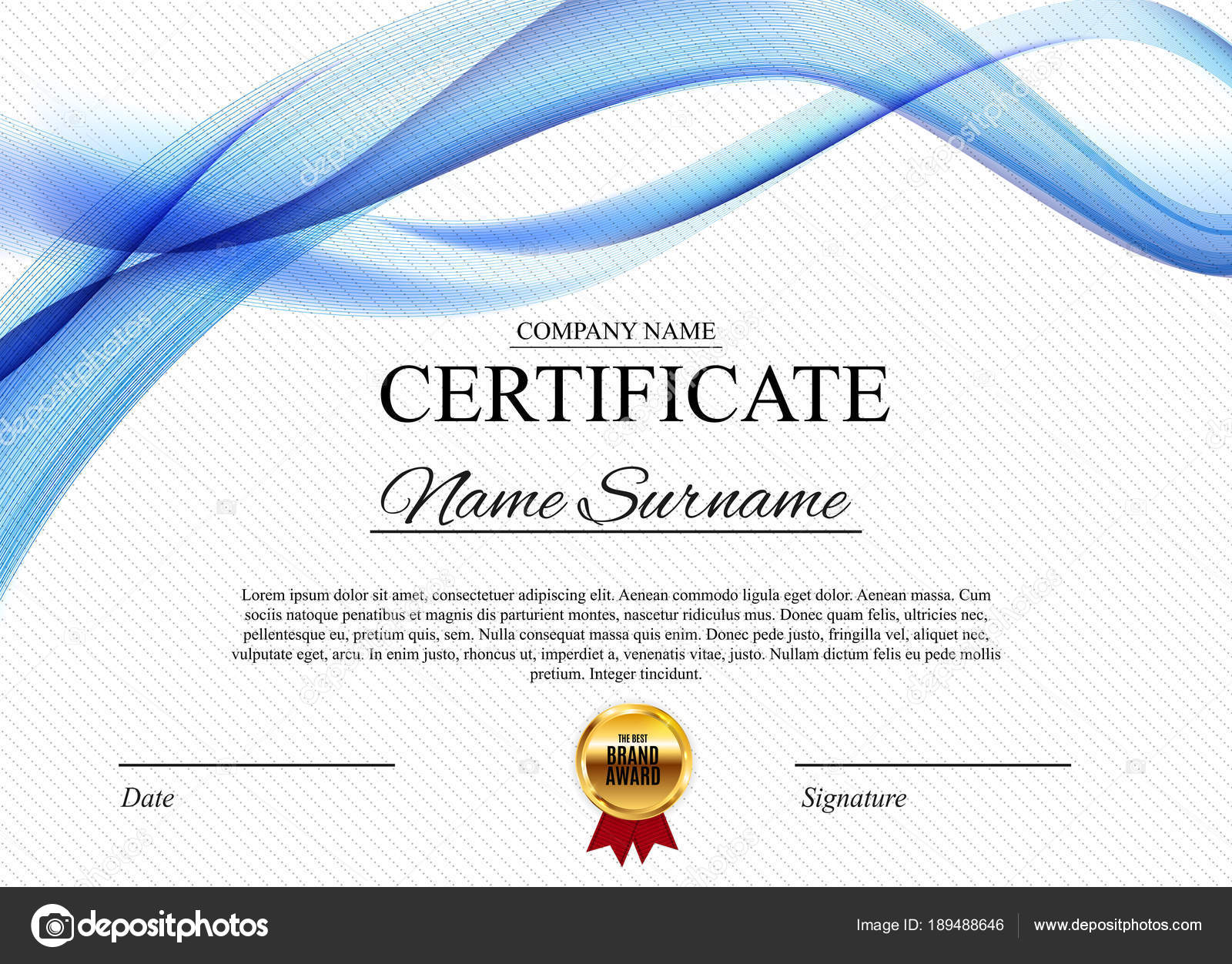 certificate template background award diploma design blank vector
