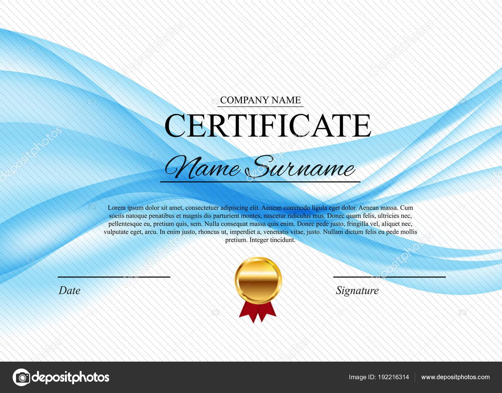 Zertifikatvorlage Hintergrund. Diplom Design leer zu vergeben ...