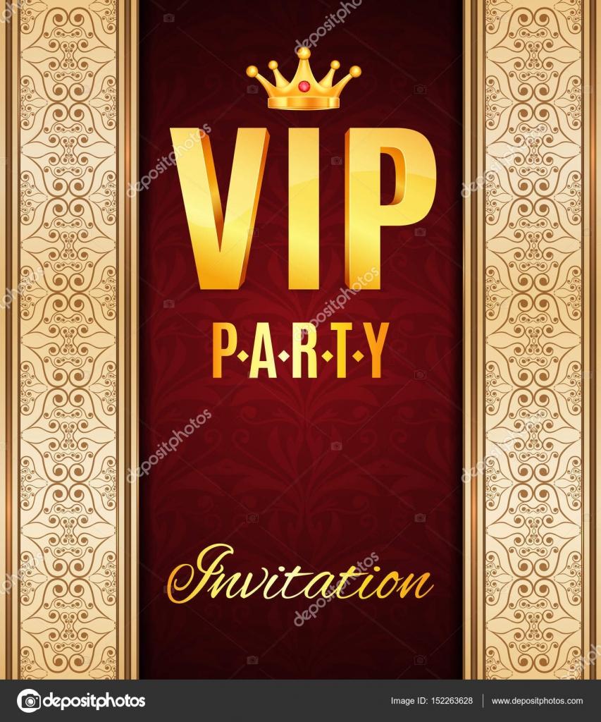 VIP elegant card — Stock Vector © ecrow #152263628