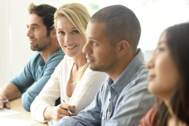 ethnic business people on meeting
