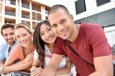 multi-racial peole in student city