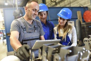 people in metallurgy training class