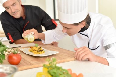 cook student in training course