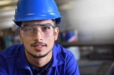 metalwork trainee in workshop
