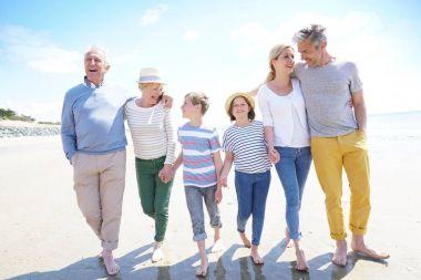 Happy intergenerational family