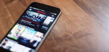 Netflix app on mobile device