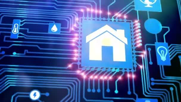 SmartHome dům automatizace ikony na základní desce
