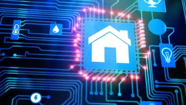 Dům automatizace domů ovládací koncept
