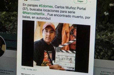 Netflix on computer screen - new narcos episodes