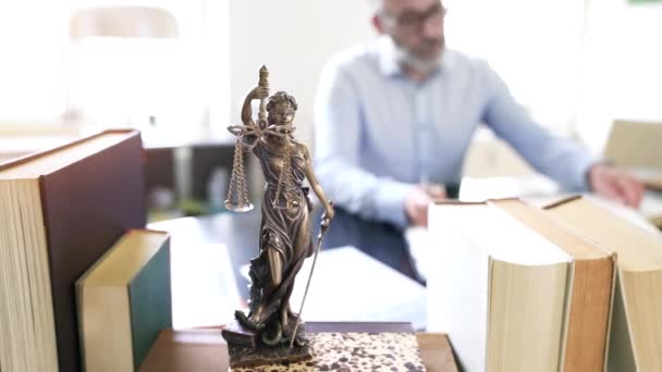 The Statue of Justice in office