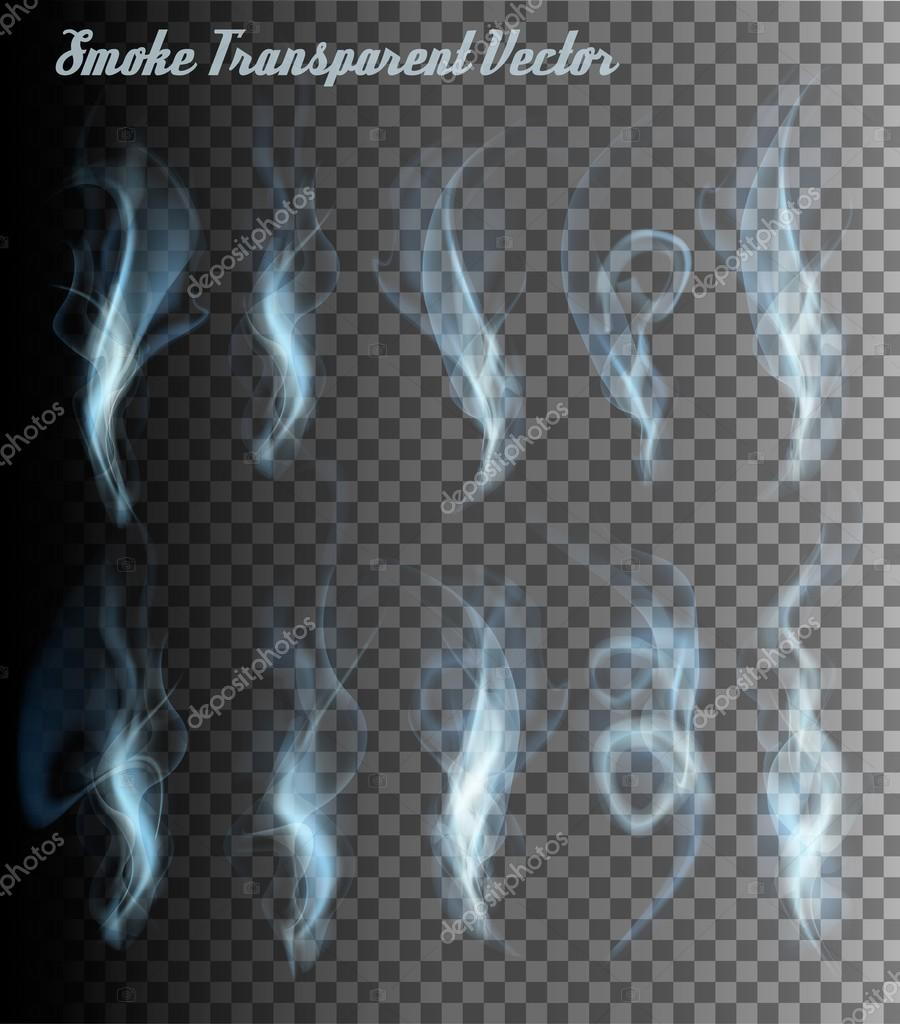 Transparent Smoke Vectors. Vector