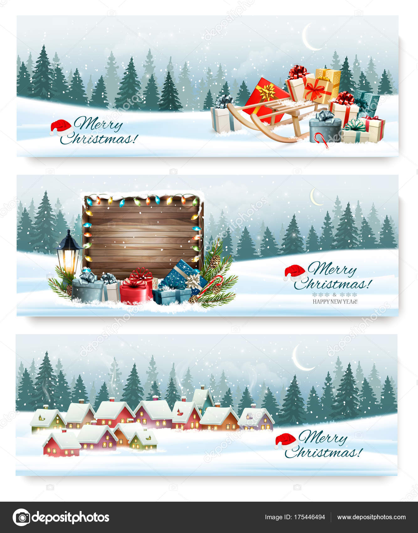 Winter Holiday Banners Demonetization Banners