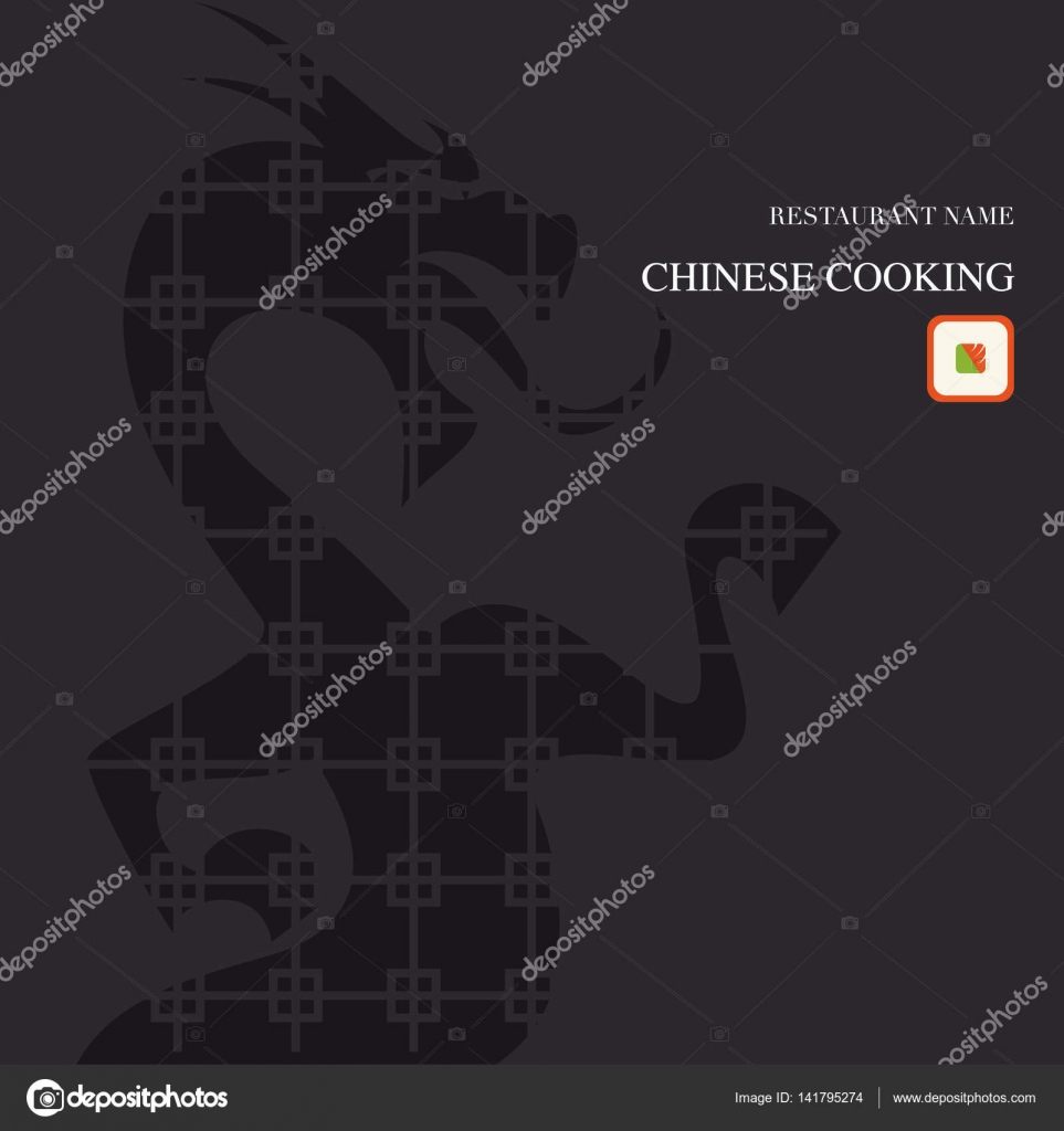 Chinesische Küche-Abdeckung-Menü — Stockvektor © patpat #141795274