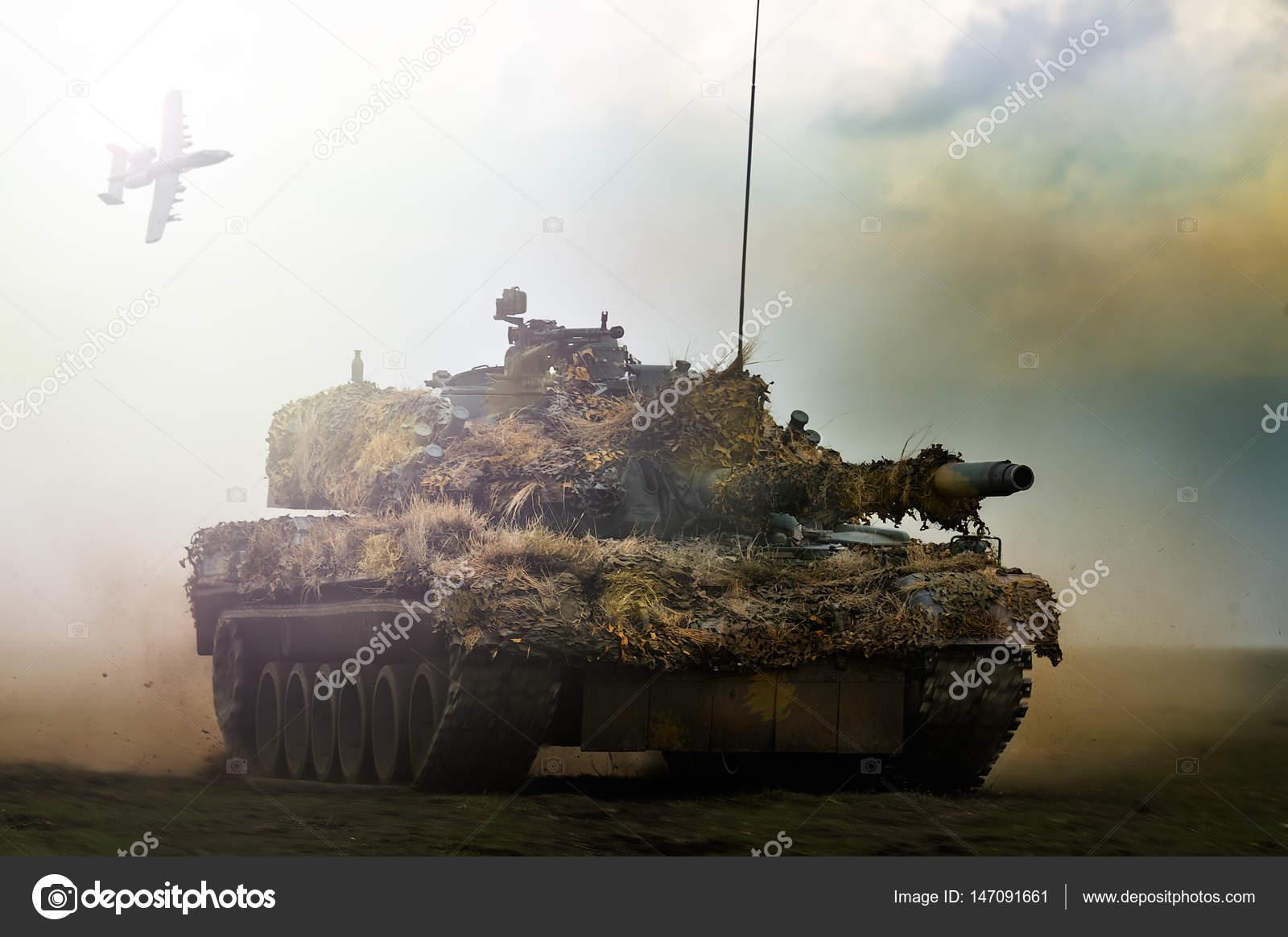 Romanian tank TR-85M1 in military polygon \u2013 Stock Editorial Photo