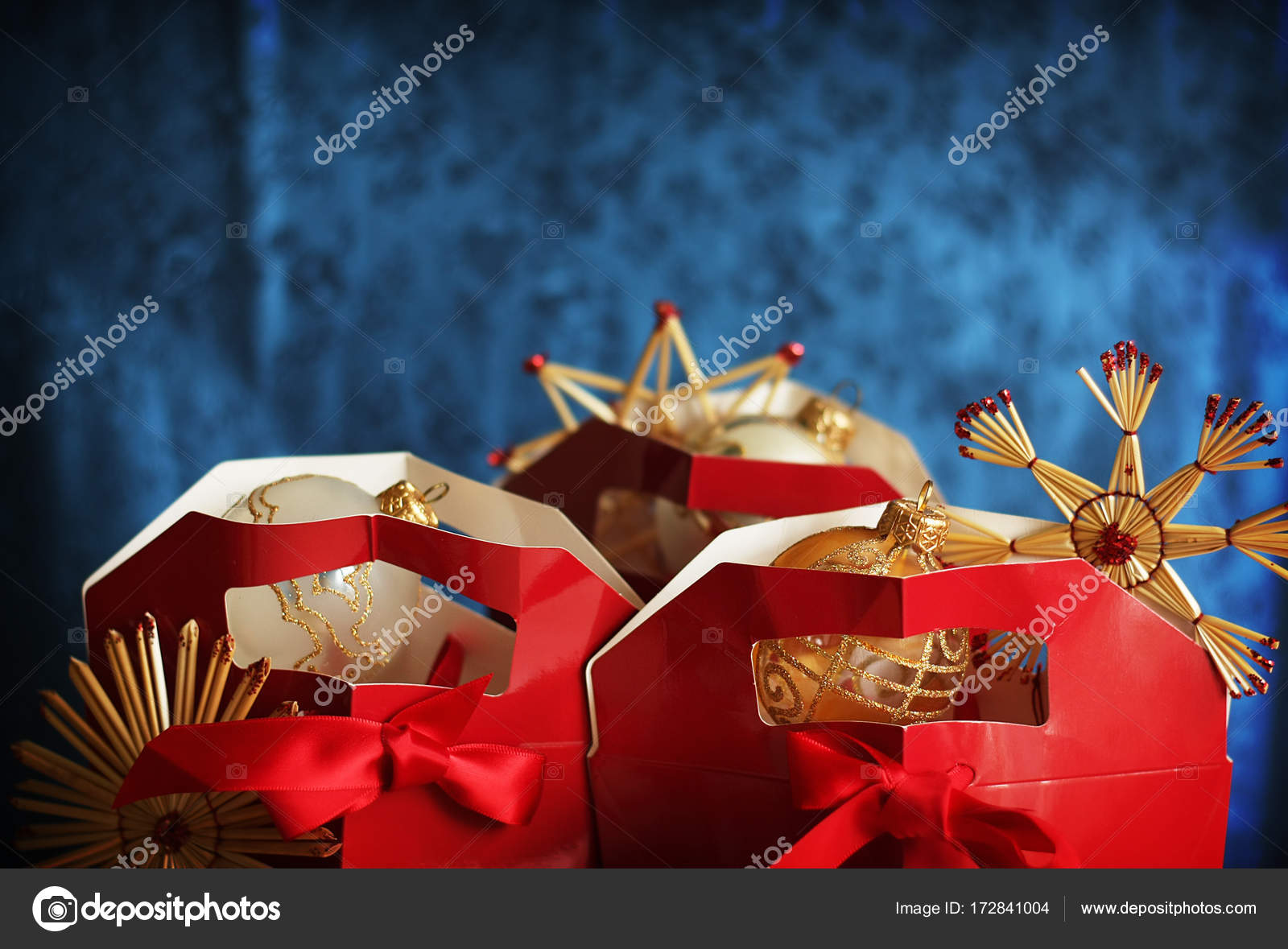 Christmas card with gift boxes — Stock Photo © solotry23 #172841004