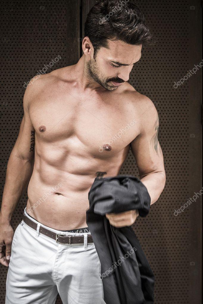 Topless portrait men 4