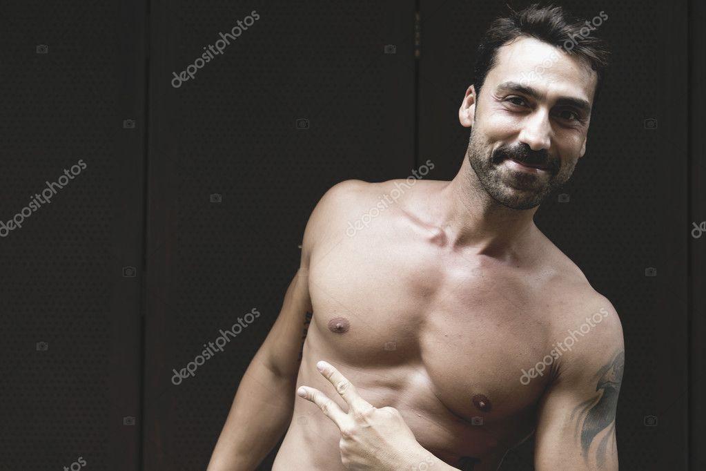 Topless portrait men 8