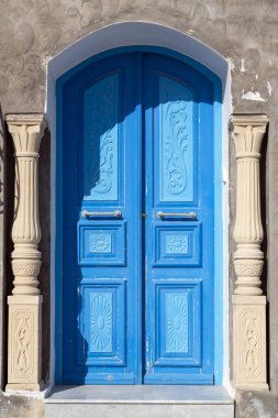 Traditional old Tunisian door