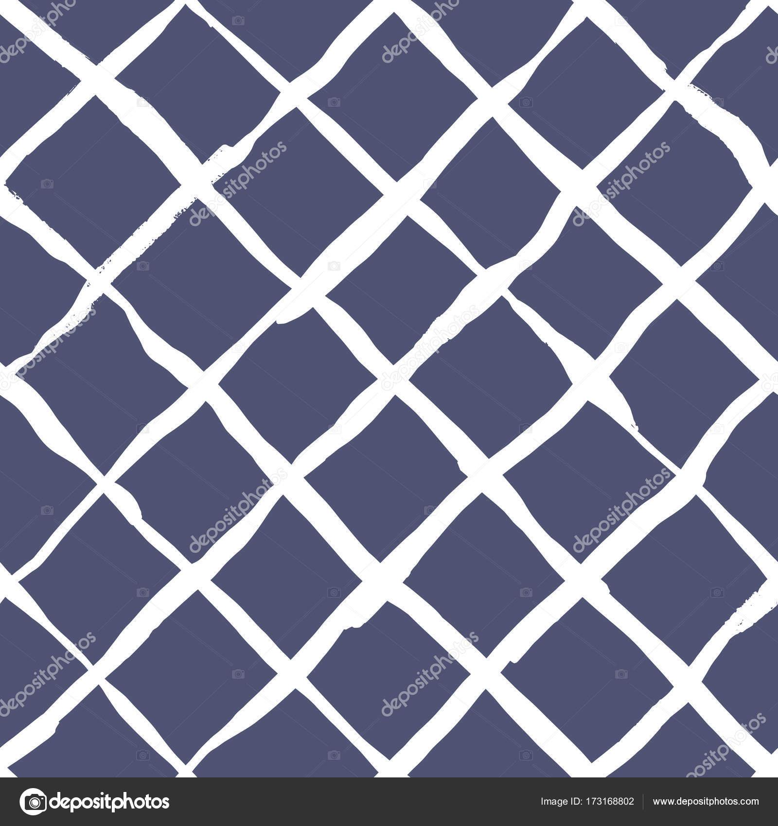 Diagonal cross brush strokes seamless pattern — Stock Vector