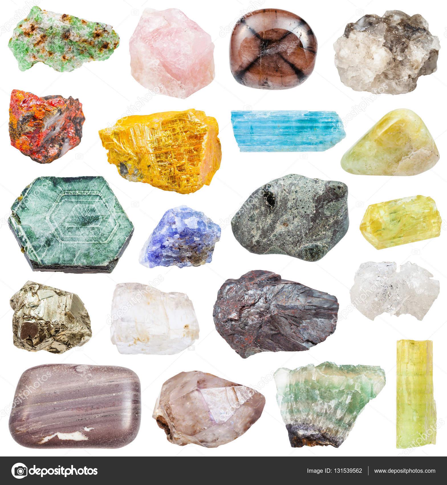 olika mineraler