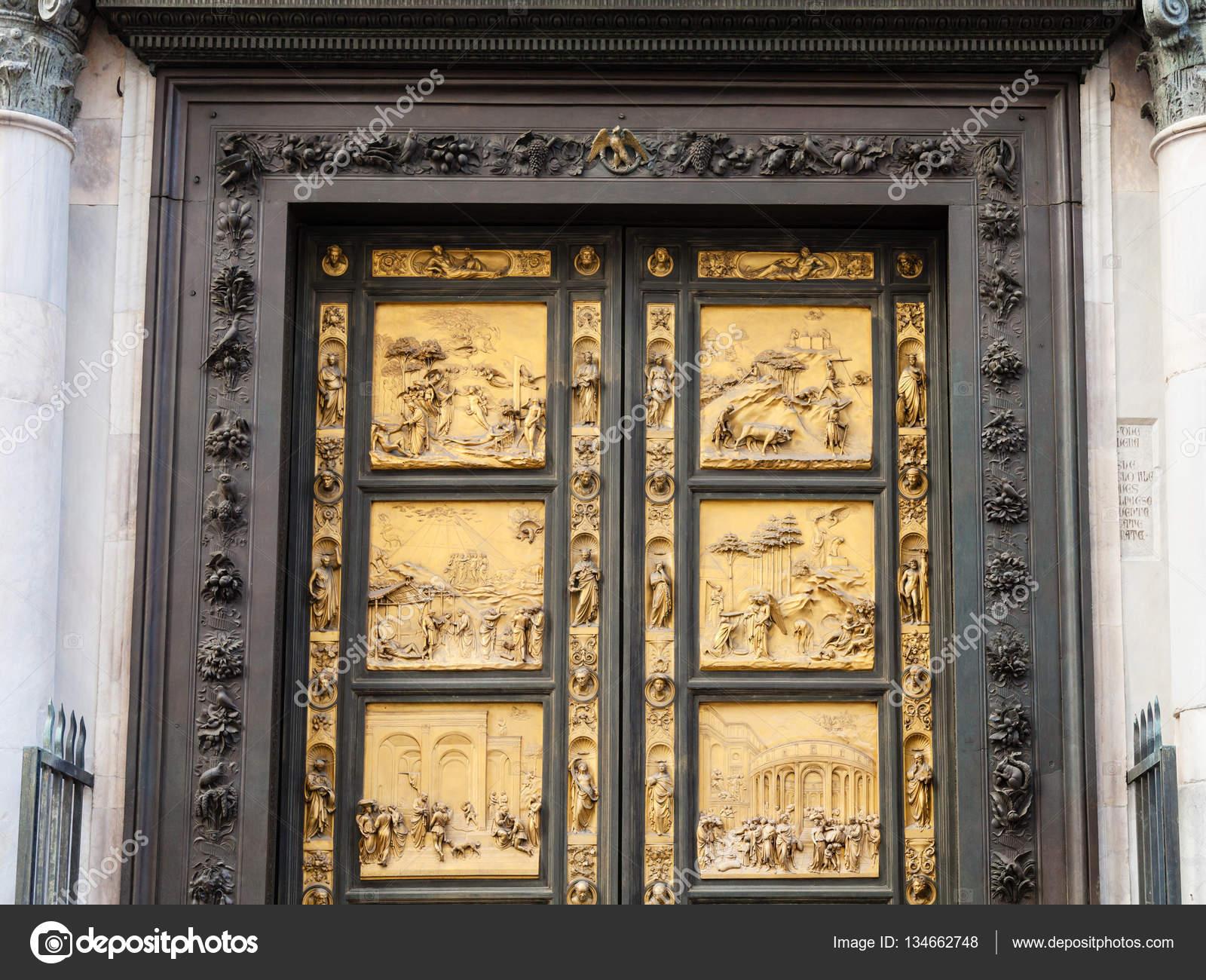 Outdoor East doors of Baptistery in Florence u2014 Stock Photo & outdoor East doors of Baptistery in Florence u2014 Stock Photo ...